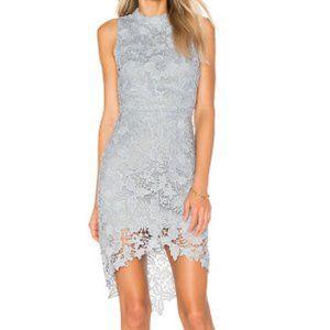 REVOLVE ASTR Samantha Dress Dusty Blue Lace M